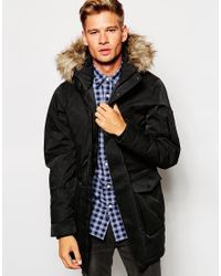 SELECTED | Black 100% Waterproof Parka for Men | Lyst