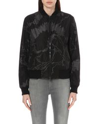 Rag & Bone | Gray Liberty Manston Shell Bomber Jacket | Lyst