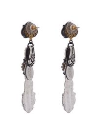 Erickson Beamon | Metallic Hunger Crystal-embellished Earrings | Lyst