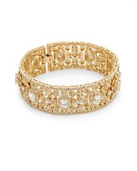 Adriana Orsini - Metallic Crystal Bangle Bracelet - Lyst