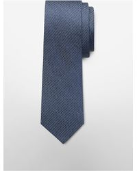 Calvin Klein - Blue White Label Steel Micro Dot Tie for Men - Lyst
