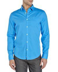 Original Penguin   Blue Woven Sport Shirt for Men   Lyst