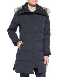 Canada Goose - Gray Shelburne Parka With Fur Hood - Lyst