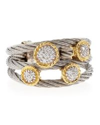 Alor | Metallic Diamond-Station Cable Ring | Lyst