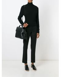 Tod's - Black Textured Leather Tote Bag - Lyst
