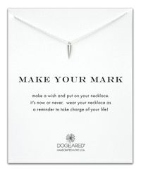 Dogeared | Metallic Make Your Mark Reminder Necklace | Lyst