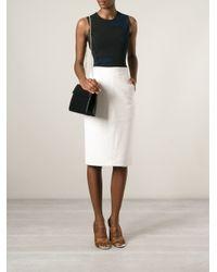 Ferragamo - Black Structured Leather Shoulder Bag - Lyst