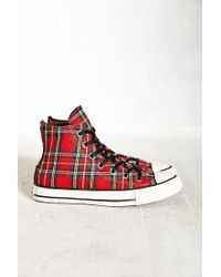 0accb714a5d Red Conserve Chuck Taylor All Star Tartan High-Top Women S Sneakers