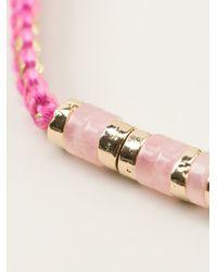 Aurelie Bidermann - Pink Beaded Bracelet - Lyst