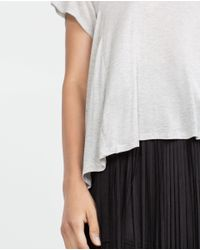 Zara | Gray Basic Street T-shirt | Lyst