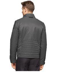 Calvin Klein | Gray Full-zip Motorcycle Jacket for Men | Lyst