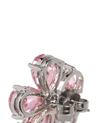 CZ by Kenneth Jay Lane - Pink Cubic Zirconia Floral Earrings - Lyst
