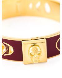 Alexander McQueen | Brown Enamel Skull Bracelet | Lyst