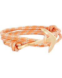 Miansai - Orange Anchor On Rope Bracelet for Men - Lyst