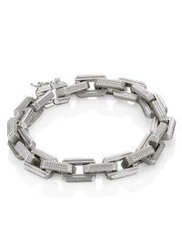 Eddie Borgo | Metallic Silver Supra Link Bracelet | Lyst