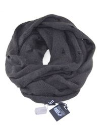 William Rast | Gray Distressed Infinity Scarf for Men | Lyst
