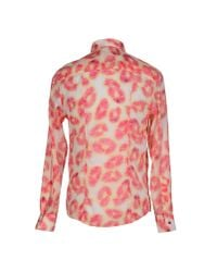 Armani Jeans | Pink Shirt for Men | Lyst