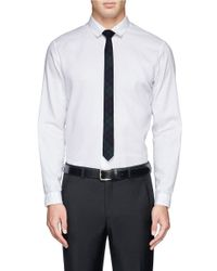 Lanvin - Green Tartan Check Tie for Men - Lyst