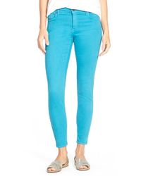 CJ by Cookie Johnson | Blue 'wisdom' Colored Stretch Ankle Skinny Jeans | Lyst
