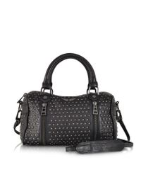 Zadig & Voltaire - Xs Sunny Studs Black Leather Satchel W/Shoulder Strap - Lyst