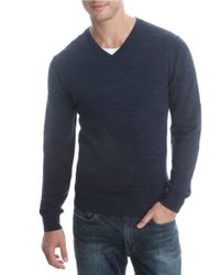 Lucky Brand | Blue V-neck Cotton Sweater for Men | Lyst