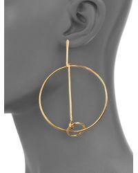 Chloé | Metallic Cate Drop Hoop Earrings | Lyst