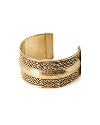 Forever 21 - Metallic Braided Cuff Bracelet - Lyst
