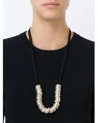 Ann Demeulemeester | Metallic Multi-ring Necklace | Lyst