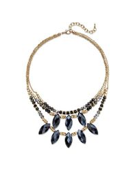 Palmbeach Jewelry | Metallic Marquise-cut Black Aurora Borealist Crystal Multi-strand Gold Tone Statement Necklace 18'' | Lyst
