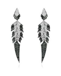 Stephen Webster | Gray Magnipheasant Feathers Earrings | Lyst