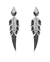 Stephen Webster - Gray Magnipheasant Feathers Earrings - Lyst