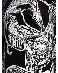Emilio Pucci - Black Sagittarius-print High-neck Silk Gown - Lyst