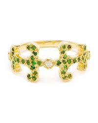 Sabine G | Green 18k Yellow Gold Tsavorite Oona Ring | Lyst