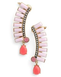 Kent & King | Pink Crystal Ear Crawlers | Lyst