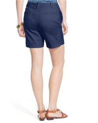 Lauren by Ralph Lauren | Blue Stretch-cotton Shorts | Lyst
