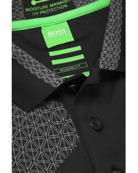 BOSS Green - Black 'Paddy Pro' | Modern Fit, Moisture Manager Stretch Cotton Blend Polo Shirt for Men - Lyst