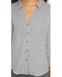Soft Joie - Gray Fran Button Down Shirt - Lyst