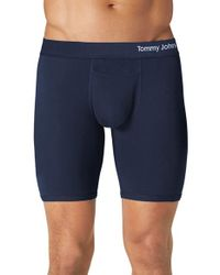 Tommy John | Blue Cool Cotton Boxer Briefs for Men | Lyst