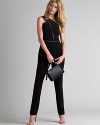 Noam Hanoch | Black Exclusive Alexa One Shoulder Lace Jumpsuit | Lyst