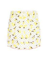 Piamita - Yellow Jill Silk Lemon Print Pajama Top - Lyst