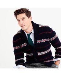 J.Crew - Multicolor Lambswool Fair Isle Cardigan Sweater - Lyst