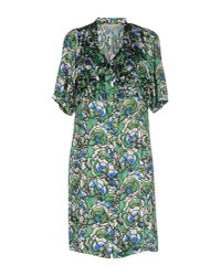 L'Autre Chose - Green Short Dress - Lyst