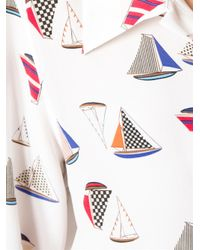 Equipment - White Arden Sail Print Blouse - Lyst