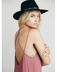 Free People | Purple Knotted Tie Up Slip | Lyst