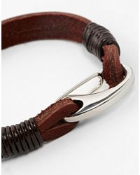 Seven London | Brown Leather Bracelet for Men | Lyst