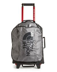 The North Face | Gray 'rolling Thunder' Rolling Carry-on Suitcase for Men | Lyst
