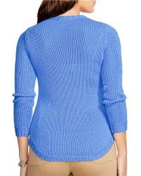 Lauren by Ralph Lauren | Blue Plus Crewneck Sweater | Lyst