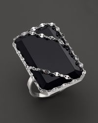 Lana Jewelry | Metallic 14k White Gold Noir Ring With Black Onyx | Lyst