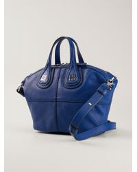 Lyst - Givenchy Nightingale Small Tote in Blue fdb83168bf506