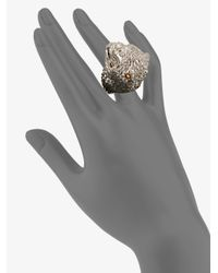 Alexander McQueen - Metallic Snake Skull Ring - Lyst
